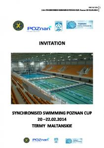 INVITATION 11th SYNCHRONISED SWIMMING POZNAN CUP, Poznan INVITATION SYNCHRONISED SWIMMING POZNAN CUP TERMY MALTANSKIE
