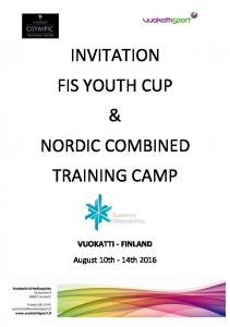 INVITATION FIS YOUTH CUP & NORDIC COMBINED TRAINING CAMP