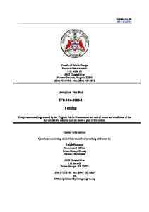 Invitation For Bid IFB # Fencing