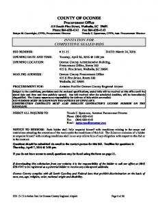 INVITATION FOR COMPETITIVE SEALED BIDS