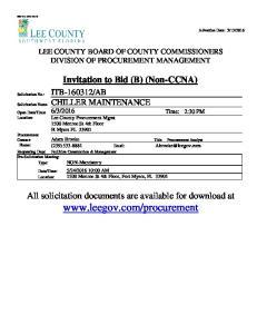 Invitation to Bid (B) (Non-CCNA)
