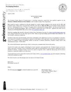 INVITATION TO BID BL048-16