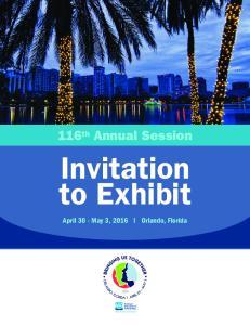 Invitation to Exhibit