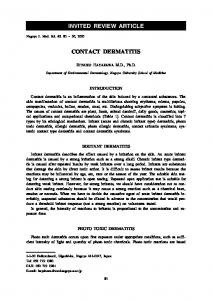 INVITED REVIEW ARTICLE CONTACT DERMATITIS