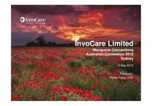 InvoCare Limited Macquarie Connections Australian Conference 2015 Sydney