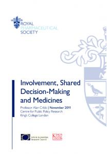 Involvement, Shared Decision-Making and Medicines