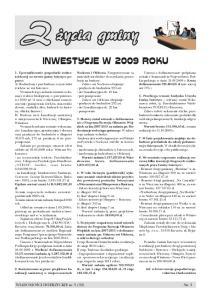 INWESTYCJE W 2009 ROKU