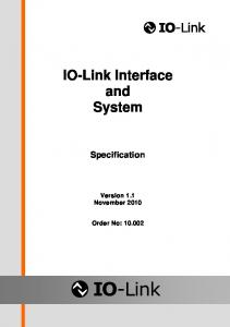 IO-Link Interface and System