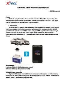 iobd2 BT OBDII Android User Manual