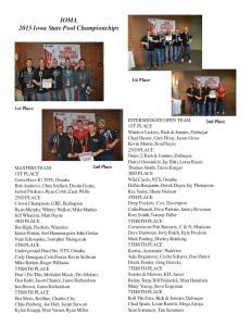 IOMA 2015 Iowa State Pool Championships