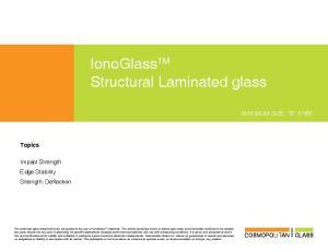 IonoGlass TM Structural Laminated glass