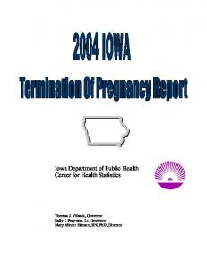 Iowa Department of Public Health Center for Health Statistics