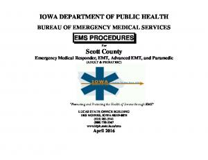 IOWA DEPARTMENT OF PUBLIC HEALTH EMS PROCEDURES