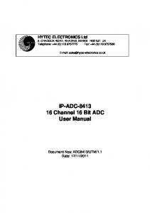 IP-ADC Channel 16 Bit ADC User Manual