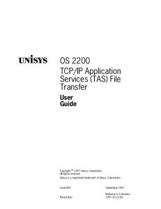 IP Application Services (TAS) File Transfer
