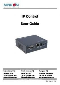 IP Control. User Guide