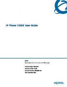 IP Phone 1120E User Guide. BCM Business Communications Manager