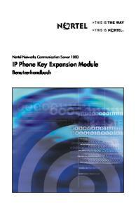 IP Phone Key Expansion Module