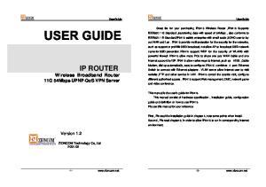 IP ROUTER Wireless Broadband Router 11G 54Mbps UPNP QoS VPN Server