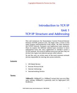 IP Structure and Addressing