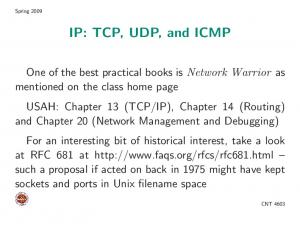 IP: TCP, UDP, and ICMP