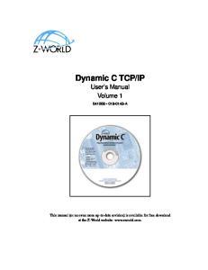 IP User s Manual Volume 1