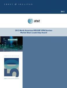 IP VPN Services Market Share Leadership Award