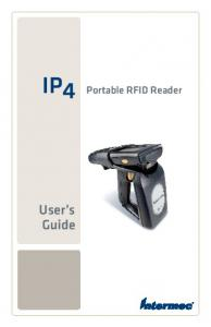 IP4. Portable RFID Reader. User s Guide