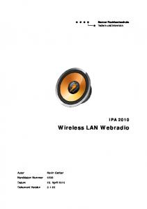 IPA 2010 Wireless LAN Webradio