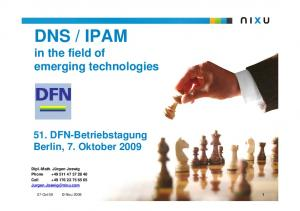 IPAM in the field of emerging technologies