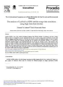 IPB satellite image data simulation using High Data Rate Modem