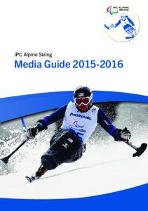 IPC Alpine Skiing Media Guide