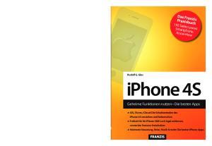 iphone 4S 192 Seiten pures Smartphone- Know-How Rudolf G. Glos iphone 4S verstehen und beherrschen versteckte Features freischalten