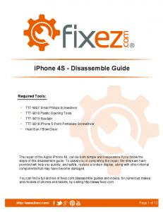 iphone 4S - Disassemble Guide