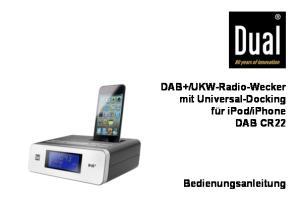 iphone DAB CR22. Bedienungsanleitung