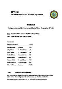 IPMC International Police Motor Corporation