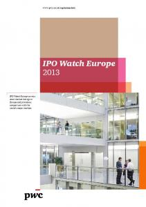 IPO Watch Europe 2013