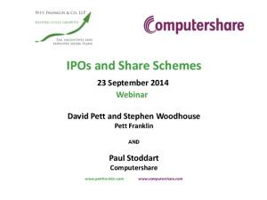 IPOs and Share Schemes