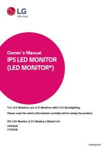 IPS LED MONITOR (LED MONITOR*)