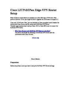 IPsec Edge-VPN Router Setup