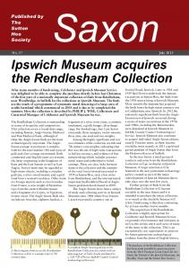 Ipswich Museum acquires the Rendlesham Collection