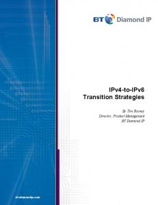 IPv4-to-IPv6 Transition Strategies