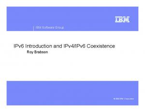 IPv6 Coexistence