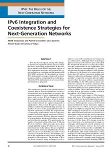 IPv6 Integration and Coexistence Strategies for Next-Generation Networks