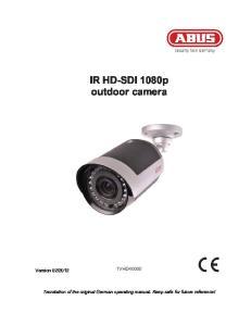 IR HD-SDI 1080p outdoor camera