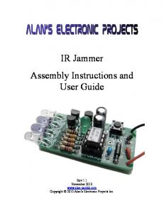 IR Jammer Assembly Instructions and User Guide