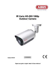 IR Vario HD-SDI 1080p Outdoor Camera