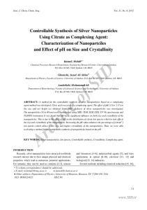 Iran. J. Chem. Chem. Eng. Vol. 31, No. 4, 2012