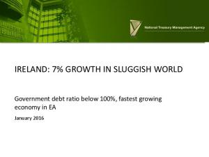 IRELAND: 7% GROWTH IN SLUGGISH WORLD