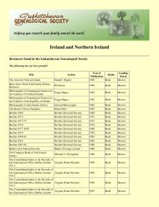 Ireland and Northern Ireland